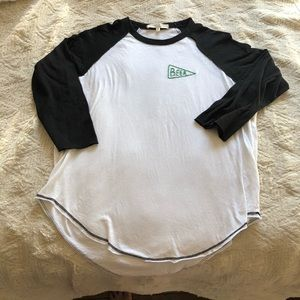 """Truly Madly Deeply Embroidered """"Beer"""" Baseball T"""